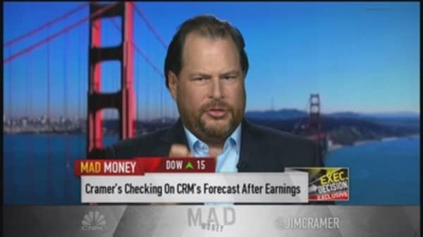 Benioff: Dedicated to being fastest co. to $10 billion
