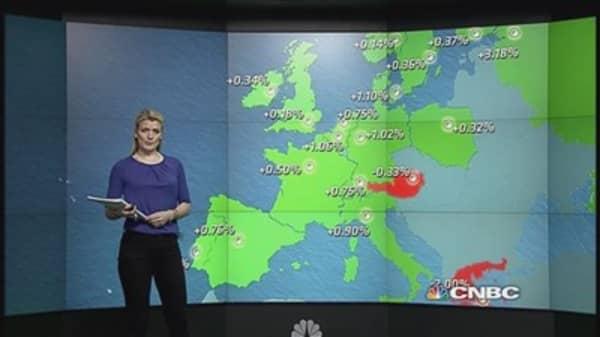 Earnings, Yellen help Europe shares end higher
