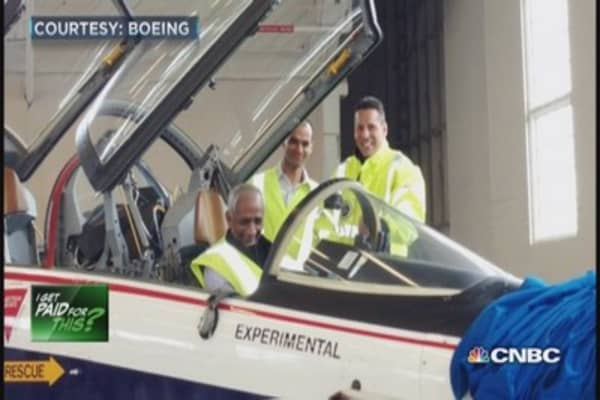 I get paid to be a Boeing test pilot