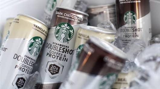 Starbucks Doubleshot Coffee & Protein cans