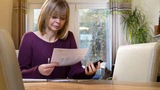 personal finance bills debt worries