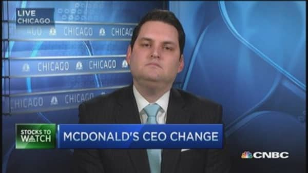 MCD's stock on the rise