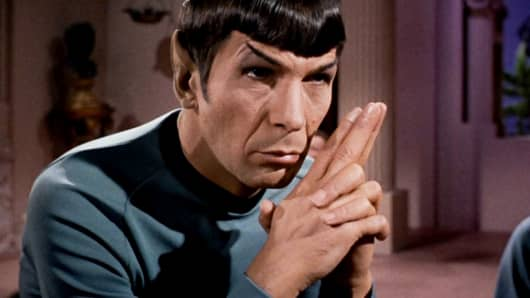 Leonard Nimoy as Mr. Spock in Star Trek