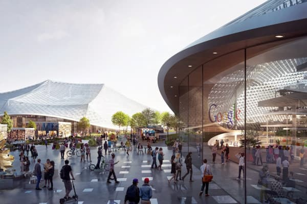 Rendering of proposed Google headquarters