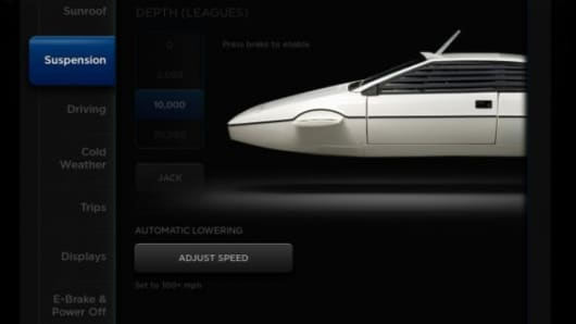 Tesla Model S has a secret James Bond mode...