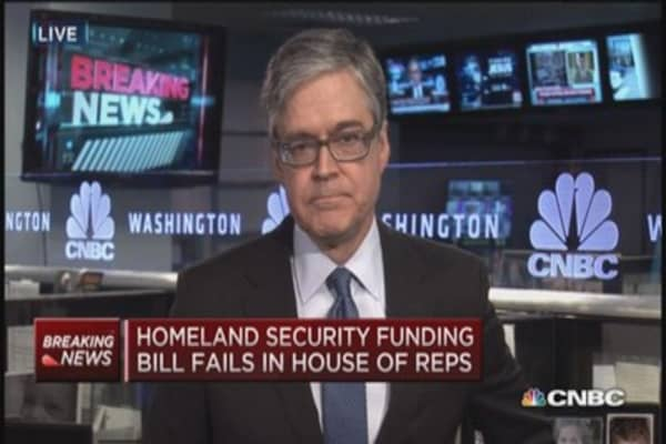 Homeland Security funding bill fails in House of Reps