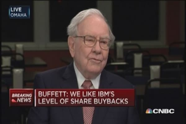 No surprises at IBM: Buffett