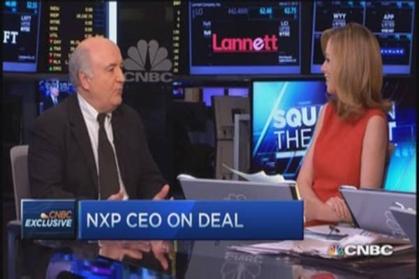 NXP CEO talks nearly $12 billion deal