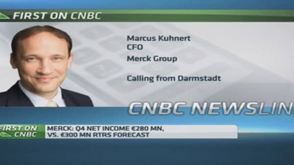 Cautious on 2015 outlook: Merck CFO