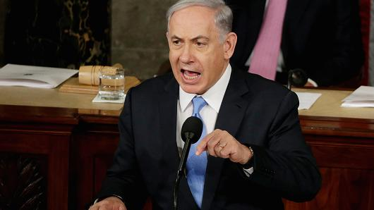Israeli Prime Minister Benjamin Netanyahu addresses a joint meeting of Congress in the House Chamber on Capitol Hill in Washington, March 3, 2015.