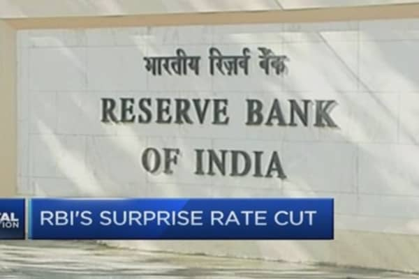 RBI surprises with interest rate cut, again