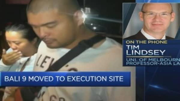 Australians on death row transferred to Indonesian island