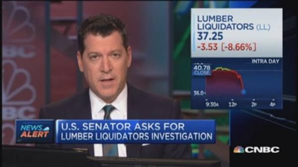 Lumber Liquidators down more than 9%
