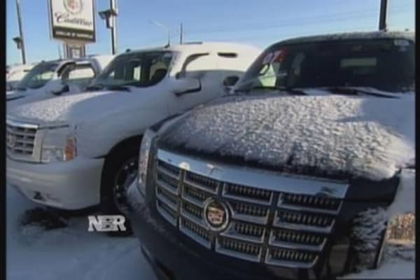 Winter weather puts chill on car sales