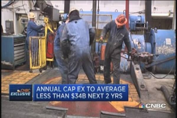 Exxon trims capex by $34 billion