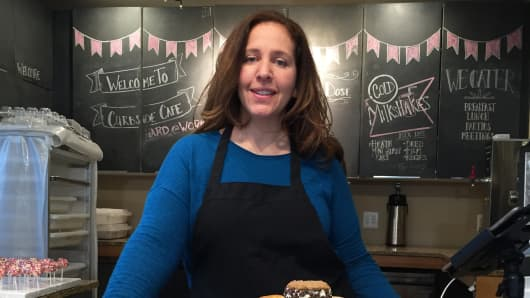 Kristi Whitfield, owner of Curbside Cupcakes in Washington, D.C., has enrolled some staff and family in the small-business Obamacare market.