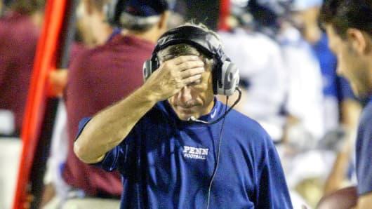 Al Bagnoli, University of Pennsylvania's football coach in 2007.