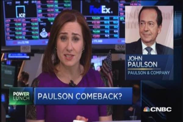 John Paulson's big comeback