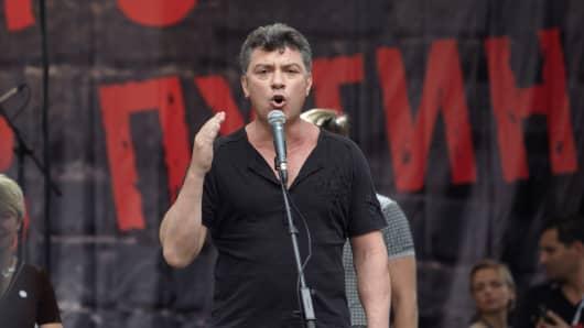Russian opposition politician Boris Nemtsov who waas murdered last month