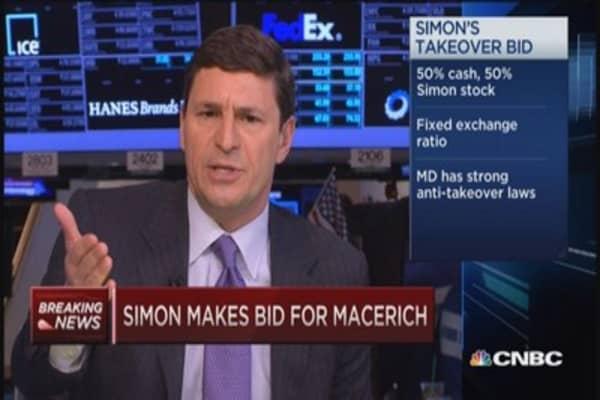 Simon launches bid for Macerich