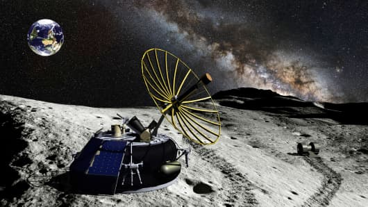 MX-1 Micro-Lander with ILO Telescope at Moon's South Pole