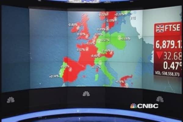 Europe stocks end lower amid US hike jitters
