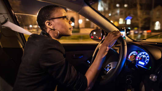 An Uber driver in Washington, D.C.