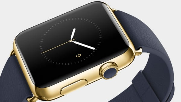 Apple Watch gold edition.