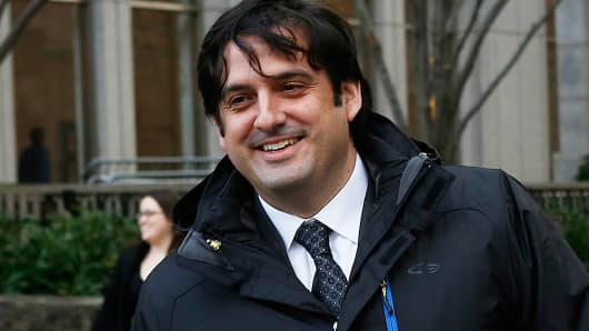 Paul Ceglia arriving at federal court in New York, November, 2012.
