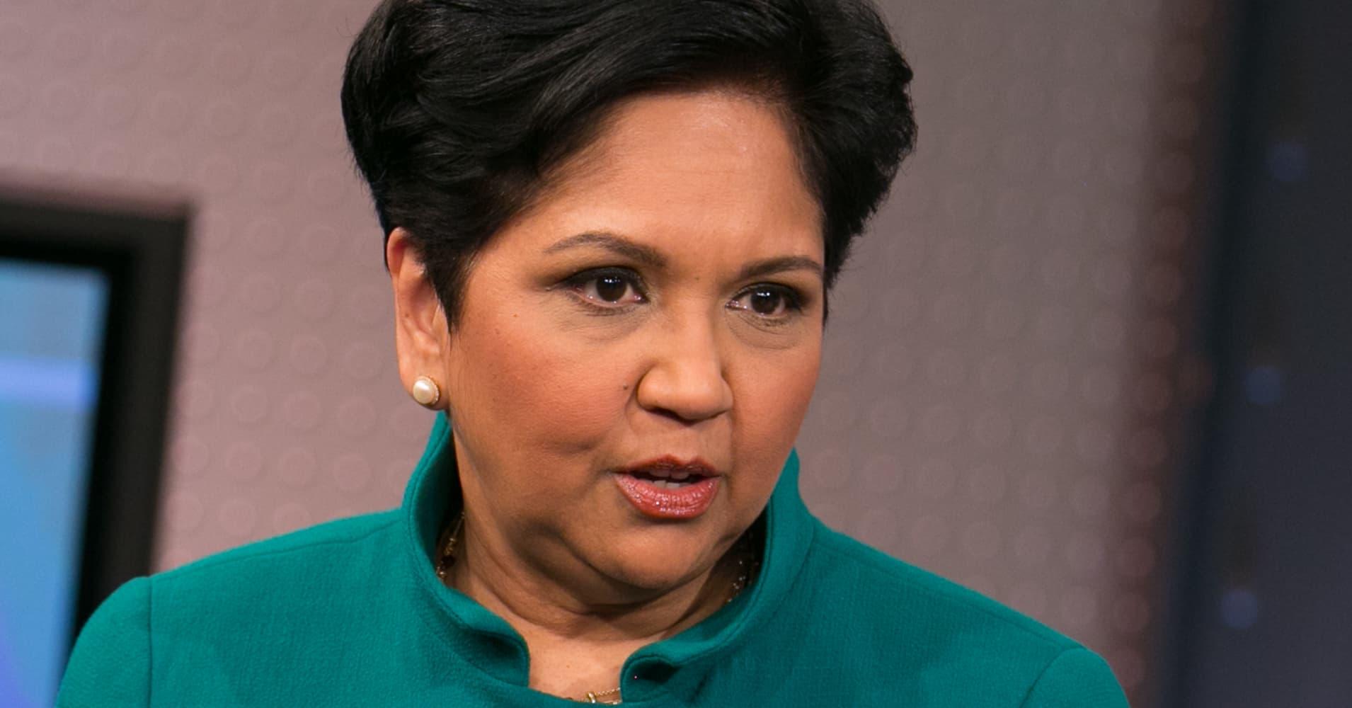 Indra Nooyi, CEO of PepsiCo.