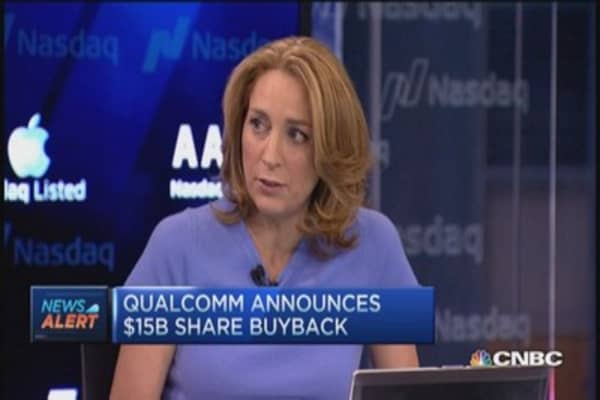 Qualcomm's $15 billion buyback; Traders say buy