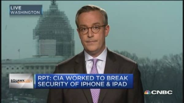 CIA attempts to crack Apple device security: Report