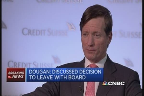 Credit Suisse's Dougan: Joint decision to leave