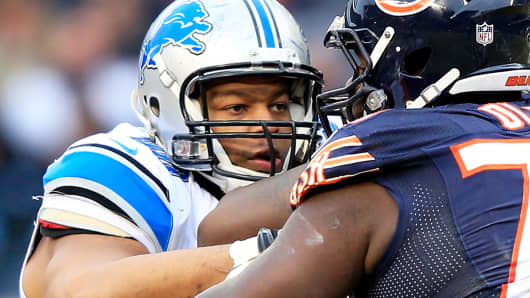 Defensive tackle Ndamukong Suh of the Detroit Lions