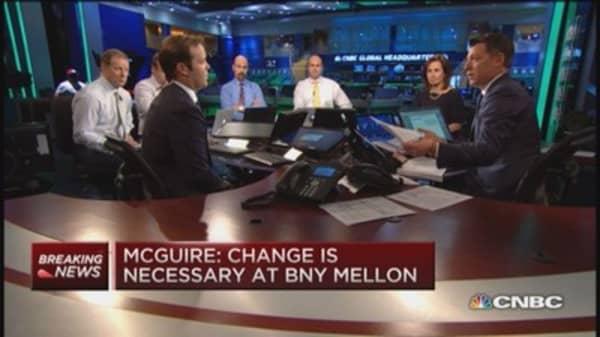 McGuire takes on BNY Mellon