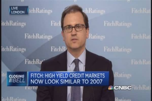 Fitch warns on high-yield debt