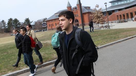 Students at Wesleyan University
