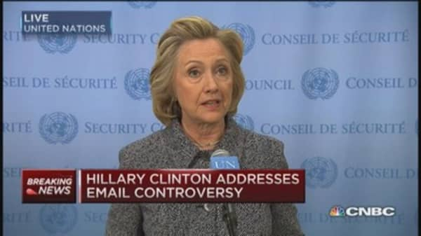 Hillary Clinton: Would've been better to use gov't email system