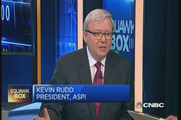 Rudd: Surprised by China's anti-graft drive