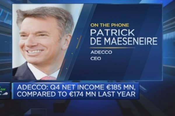 Adecco CEO sees improving French market