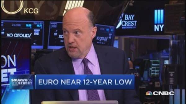 Cramer: Euro/dollar approaching parity too fast