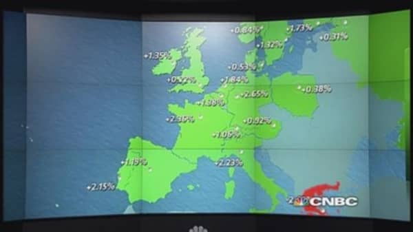 Falling euro boosts European stocks; Adecco up 6%