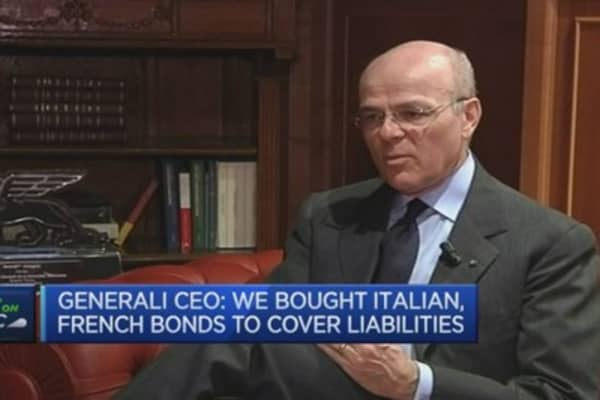 No plans to sell bonds to ECB: Generali CEO
