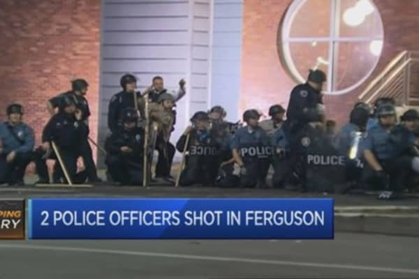 Two police offers shot in Ferguson