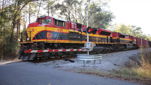 Kansas City Southern freight train