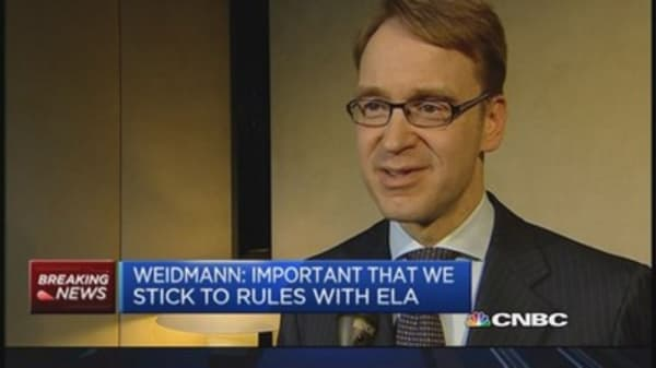 Up to Greece to ensure finances are stable: Weidmann