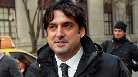 Paul Ceglia, indicted on charges of mail fraud and wire fraud, exits federal court in New York, U.S., on Wednesday, Nov. 28, 2012.