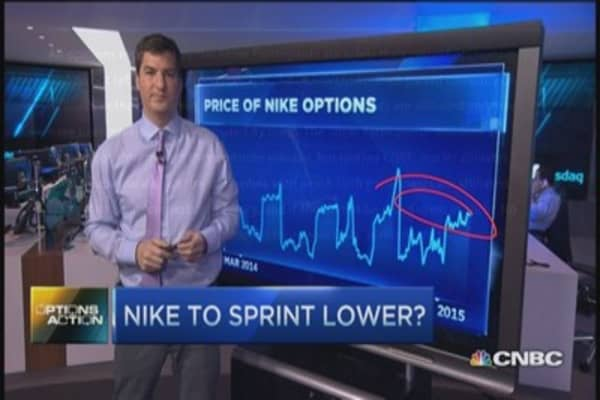Options Action: Nike to sprint lower?