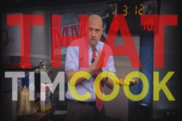 Apple CEO Tim Cook surprises Jim