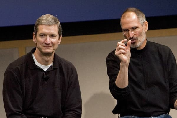 Tim Cook and Steve Jobs in 2007
